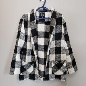 Beni Vie Oversized Jacket Plaid Black & White